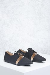 Forever 21 Clear Cutout Faux Leather Oxfords
