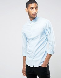 Only And Sons Oxford Shirt In Regular Fit Light Blue