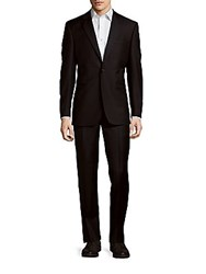 Saks Fifth Avenue Single Breasted Woolen Suit Natural