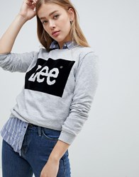 Lee Velour Logo Sweatshirt Grey Mele
