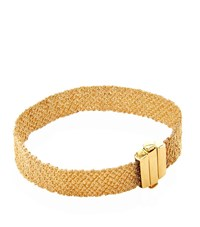 Carolina Bucci Gold And Silk Woven Bracelet Female