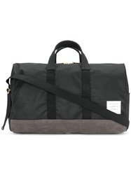 Thom Browne Unstructured Holdall In Nylon And Suede Black