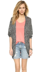 Csbla Capri Cocoon Cardigan Black Heather