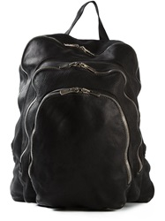 Guidi Triple Compartment Backpack Black