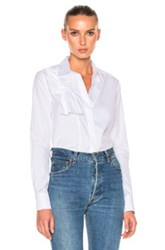 Victoria Beckham Knot Front Shirt In White