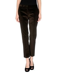 57 T Casual Pants Dark Brown