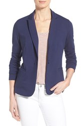 Olivia Moon Women's Knit Blazer Navy