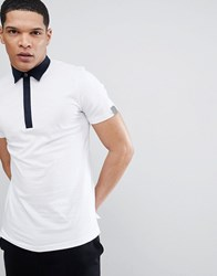 Antony Morato Polo Shirt With Contrast Collar In White