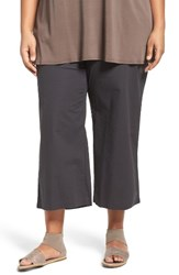 Eileen Fisher Plus Size Women's Stretch Organic Cotton Crop Wide Leg Pants