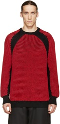 Public School Black And Red Reverse Tuck Sweater