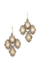 Alexis Bittar Spur Lace Wire Earrings Silver Multi