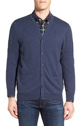 Nordstrom Men's Big And Tall Men's Shop Regular Fit Cotton And Cashmere Cardigan Blue Estate Heather