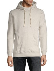 Scotch And Soda Home Alone Twisted Cotton Hoodie Ivory