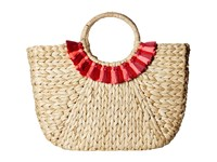 Hat Attack Round Handle Tote Natural Pinks Collar Tote Handbags Beige