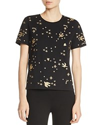 Maje Terence Embroidered Tee Black