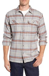 Patagonia 'Fjord' Regular Fit Organic Cotton Flannel Shirt Activist Feather Grey