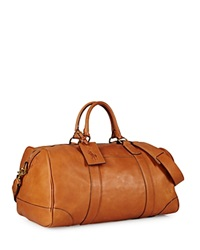 Polo Ralph Lauren Core Leather Duffel Bag Cognac