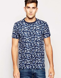Jack Wills Printed Pocket T Shirt Navyfloral