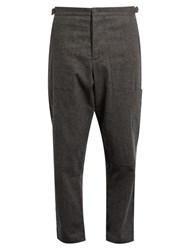 Oliver Spencer Judo Cotton And Wool Blend Trousers Grey