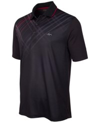 Greg Norman For Tasso Elba Plaid Trimmed Golf Polo Only At Macy's Deep Black