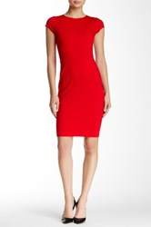 Love...Ady Cap Sleeve Body Con Dress Red