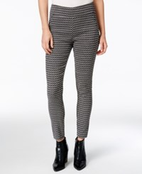 Bar Iii Printed Pull On Pants Only At Macy's Black Combo
