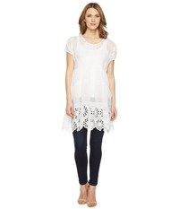 Johnny Was Arva Tiered Tunic White Women's Blouse
