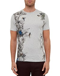 Ted Baker Tropical Graphic Tee Gray Marl