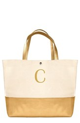 Cathy's Concepts Personalized Canvas Tote Metallic Gold C