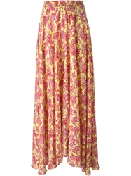 P.A.R.O.S.H. Printed Flared Long Skirt