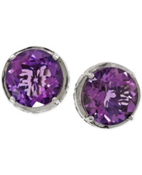 Effy Collection Amethyst Stud Earrings In Sterling Silver 6 Ct. T.W.