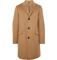 Theory Whyte Slim Fit Brushed Cashmere Coat Brown