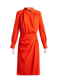 Altuzarra Kat Wrap Front Dress Orange