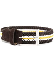 Moreschi Suede Belt Brown