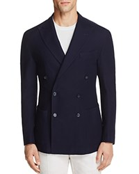 0909 Knit Double Breasted Slim Fit Sport Coat Navy