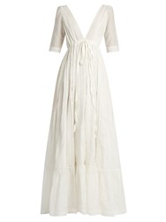 Kalita Uschi And The Wild Sky Voile Maxi Dress White
