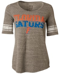 Myu Apparel Women's Short Sleeve Florida Gators Sequin T Shirt Gray