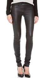 Helmut Lang Stretch Leather Pants Black
