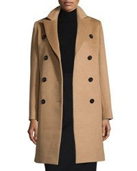 Cinzia Rocca Double Breasted Camel Hair Coat Tan Camel