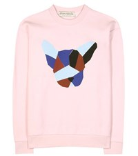 Etre Cecile Dog Face Printed Cotton Sweatshirt Pink