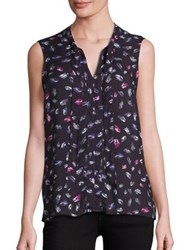Splendid Sleeveless Tie Front Top Black