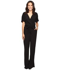 Lamade Christy Belted Romper Black Women's Jumpsuit And Rompers One Piece