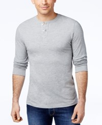 Club Room Men's Sawyer Solid Henley Only At Macy's Light Grey Heater