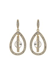 Mikey Oval Design Dangling Crystal Earring N A N A