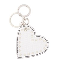Burberry Shoes And Accessories Leather Heart Charm Female White