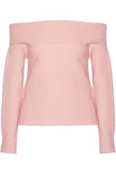 Issa Dani Off The Shoulder Wool Top Pink