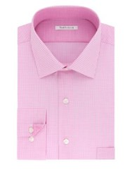 Van Heusen Plaid Cotton Dress Shirt Pink Multi