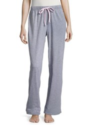 Nautica Striped Drawstring Pajama Pants Ash Heather