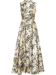 Alexis Mabille Polka Dot Wrap Dress Polyester Multicolour