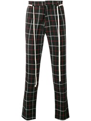 Represent Plaid Trousers Black